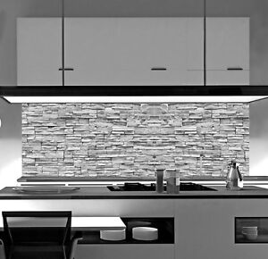 Küchenrückwand STEIN SP673 Acrylglas Spritzschutz Fliesenspiegel Küche Herd