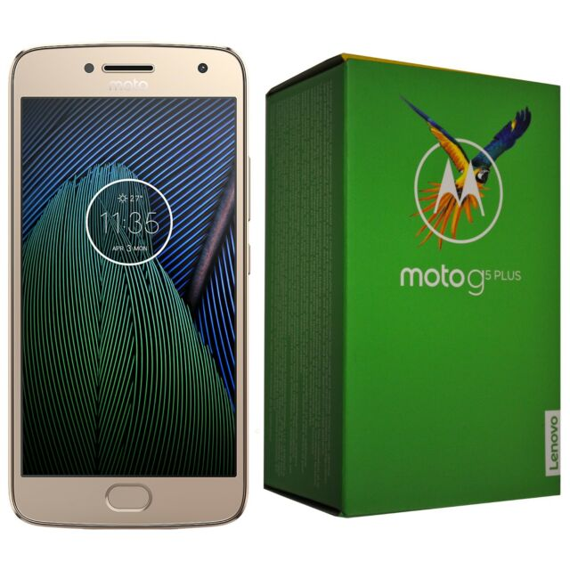 BNIB Motorola Moto G5 Plus 32GB XT1684 Gold Single-SIM Factory Unlocked 4G OEM
