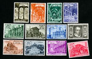 Vatican Stamps # 122-31 + E11-12 VF OG NH + LH Scott Value $109.00
