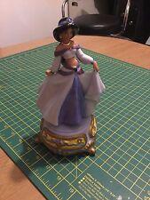 Disney Aladdin Jasmine Rotating Musical Figurine Box Sankyo