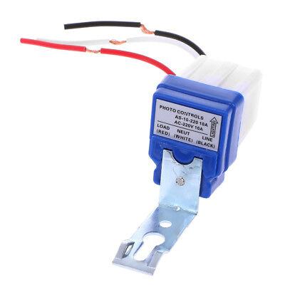 DC//AC 220V Auto On Off Light Switch Photo Control Sensor 50-60Hz 10A RainproofFO