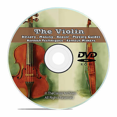 Violin Fiddle, History Making, Repair How to Restore, Play, Varnish CD DVD V53