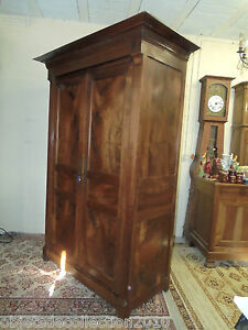 jolie ancienne petite armoire restauration xixe en noyer flamm hauteur 2 m 28 ebay. Black Bedroom Furniture Sets. Home Design Ideas
