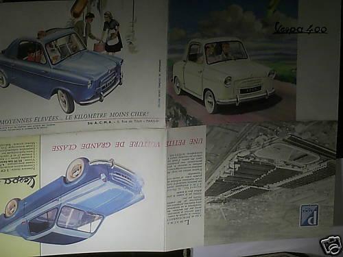 FAC SIMILE 1994// BEAU CATALOGUE VESPA 400 1958