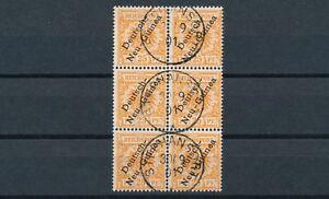 Dt-Neuguinea-25-Pfennig-Adler-1897-Sechserblock-Michel-5-geprueft-S14583