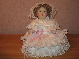 *new* Poupée En Porcelaine Blanche H.40cm Apparence Attractive
