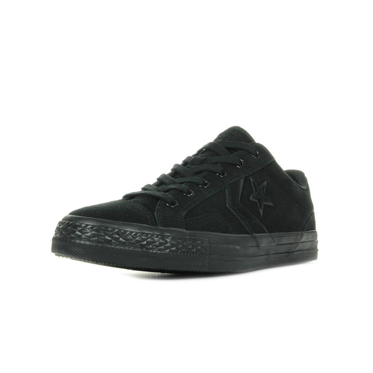 Zapatos Baskets Converse Hombre Star Player Cuir OX taille Noir Noire Cuir Player Lacets d9f3f1