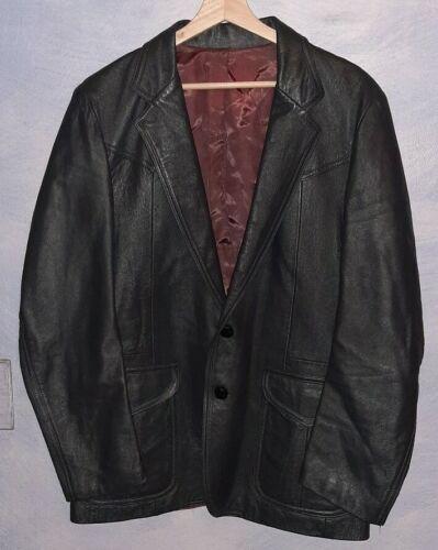 Vintage Western Leather Blazer Jacket By Trego's W