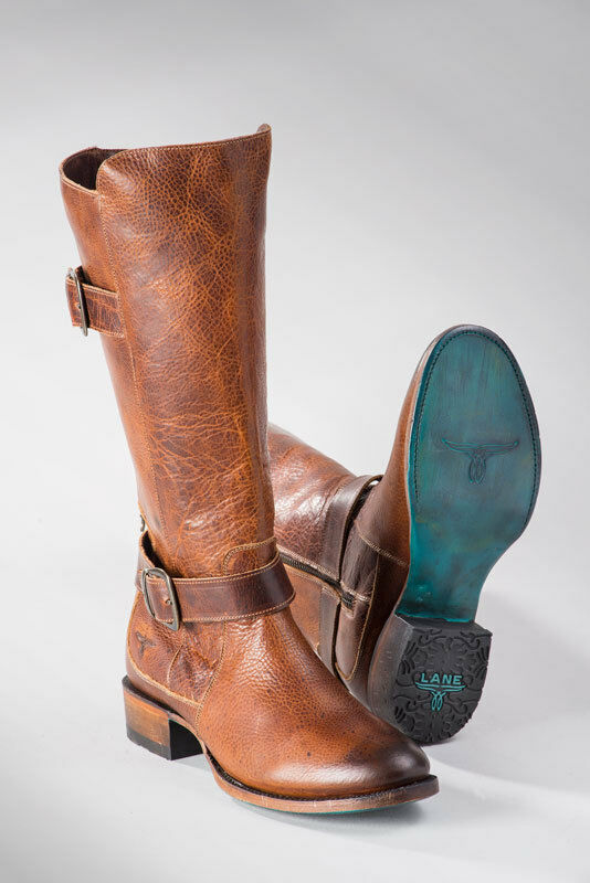 Lane Women's Brown High Top American Buckleroo Riding Boots LBO216C