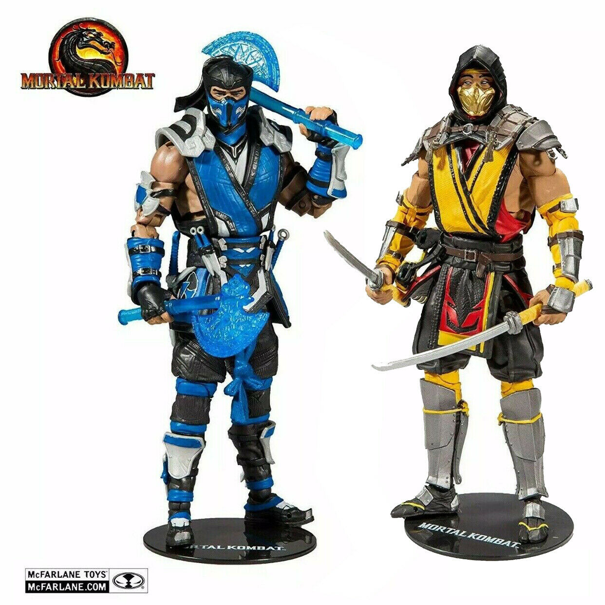In Stock Now  Mortal Kombat Sub-Zero and Scorpion Figures Mcfarlane Toys Series