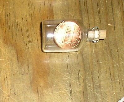 1978 Shinny Penny Miniature Corked Jug Bottle Glass Ornament Birth Anniversary