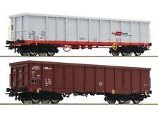 Roco 76082 Güterwagenset offene Güterwagen Eanos mit Schrott ÖBB 3x