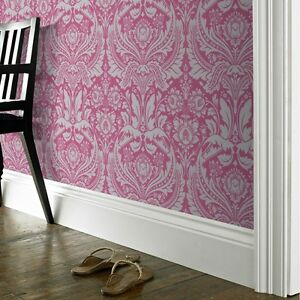 EUR-3-37-qm-Tapete-Barock-Ornament-Pink-Silber-Graham-amp-Brown-50024