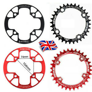 UK-DECKAS-32-38t-104bcd-MTB-Road-Bike-Sprockets-Single-Chainset-Chainring-Guard