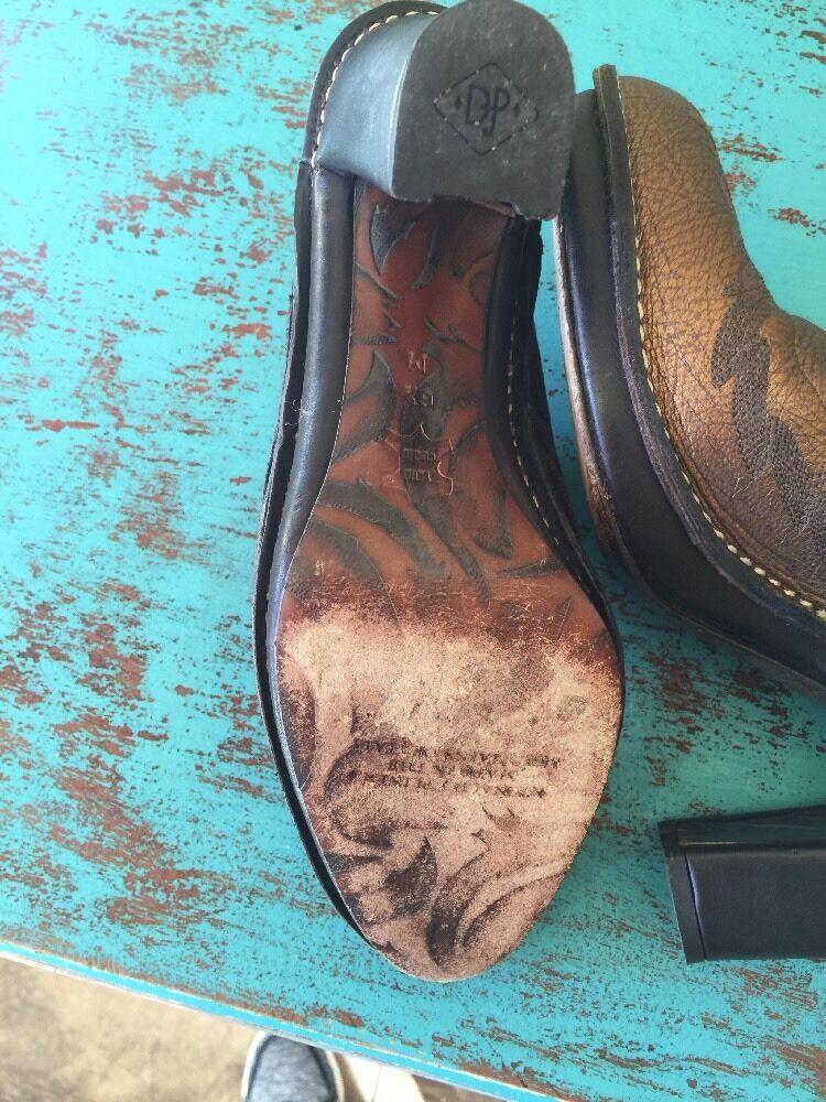 Donald J Pliner Western Cowboy Mules SlipOns Meta… - image 7