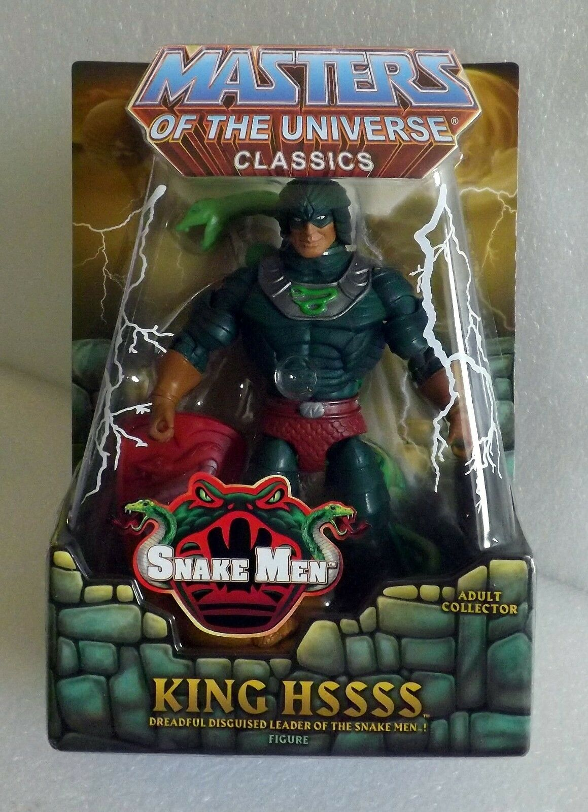 HE-MAN MASTERS OF THE UNIVERSE CLASSICS MOTUC KING HSSSS FIGURE NEW & SEALED