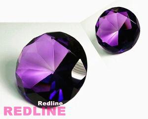 2 Piece Round Crystal Diamond Paperweight Decor Black 3.25/'/' // 80 mm