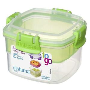 Sistema-Snacks-To-Go-Food-Storage-Container-Lunch-Box-400ml-Assorted-Colours