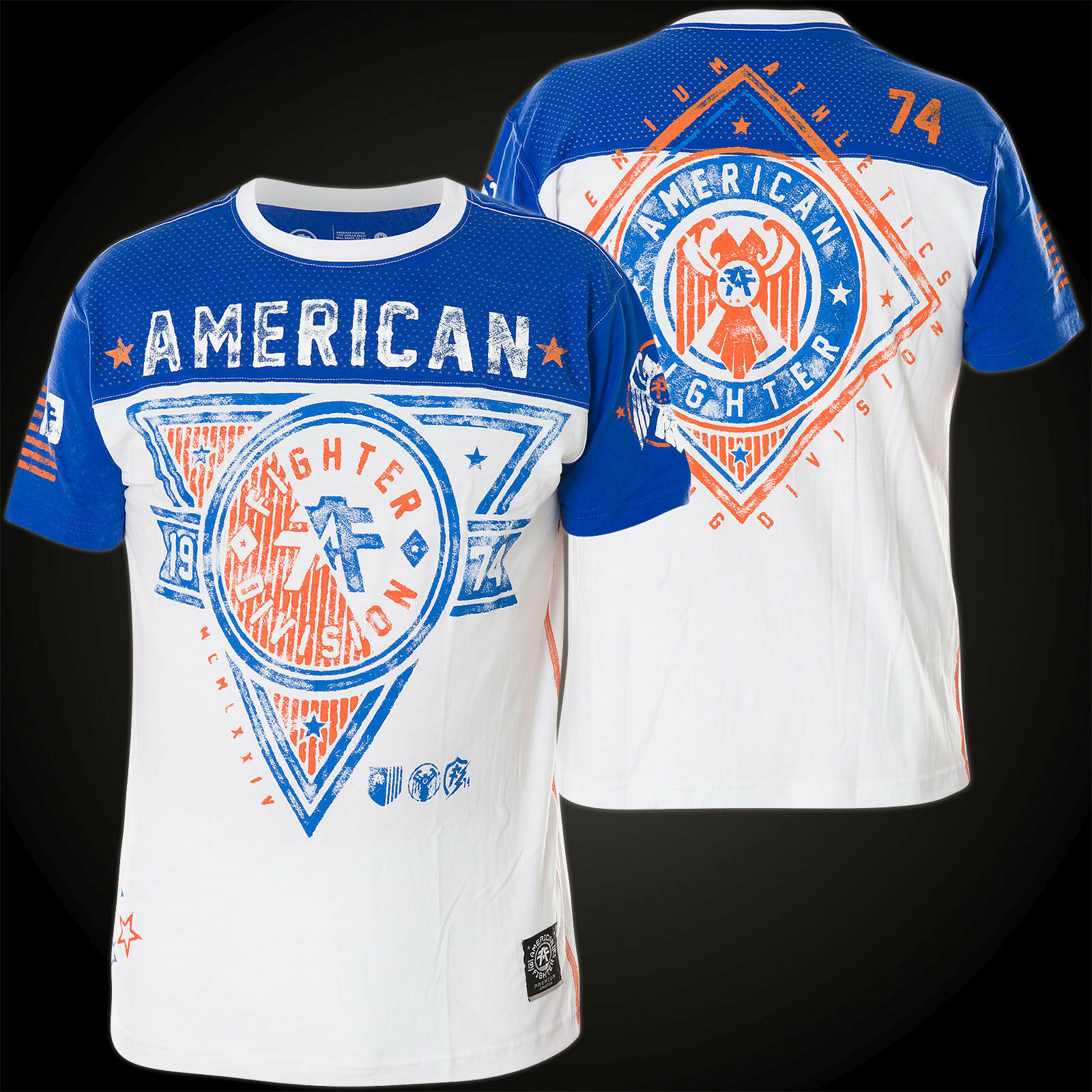 AMERICAN FIGHTER Affliction T-Shirt Siena Heights Artisans white blue