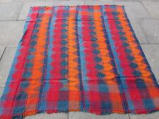 Old Tribal Nomadic Hand Made Persian Oriental Blue Red Wool MOJJ Kilim 180x173cm
