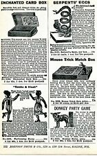 1926 Print Ad of The Performing Coons Sambo & Dinah Black Americana Serpent Eggs