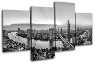 Bangkok-Thailand-Skyline-River-City-MULTI-CANVAS-WALL-ART-Picture-Print