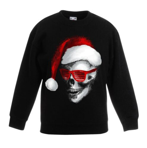 BABBO NATALE Teschio Babbo Natale Bah Humbug Kids Sweater \ Maglione-per bambini