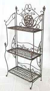 Estanteria-Avis-De-Metal-1844-Hierro-Forjado-Marron-123cm-estante-para-libros