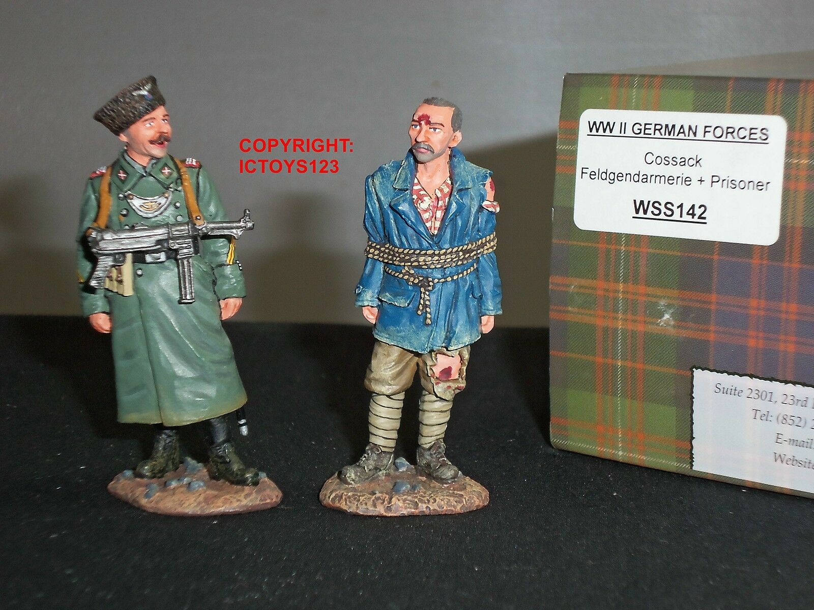 KING AND COUNTRY WSS142 GERMAN FORCES COSSAK FELDGENDARMERIE + PRISONER SET