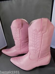 Pink-Cowgirl-Boots-1-1-2-034-Heels-1031-by-Ellie-Shoes-185-Rodeo-Medium-13-1-NIB