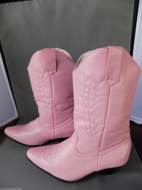 """Pink Cowgirl Boots 1 1/2"""" Heels 1031 by Ellie Shoes 185-Rodeo Medium 13-1 NIB"""