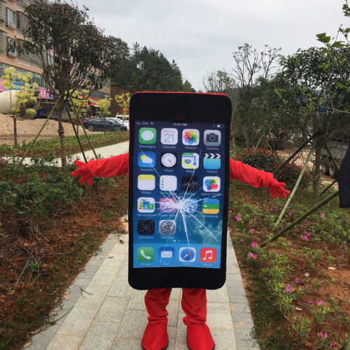 Adult Size Adversting Cell Phone//Mobile Phone//Iphone Mascot Costume Cosplay Suit