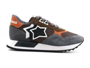Sneakers uomo Atlantic Stars Draco camoscio/tessuto multicolore con logo a vista