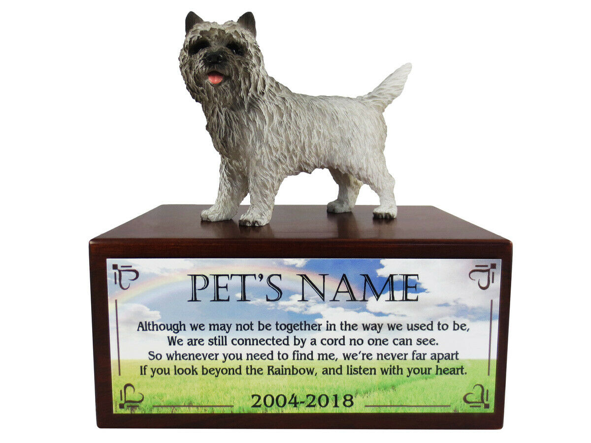 Conversation Concepts G  CairnTerrier with The Rainbow Poem Urn