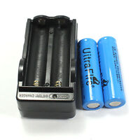 2 PCS NEW 18650 3800mAh 3.7v li-ion Rechargeable Battery and US 2 slots Charger