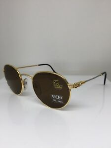New-Vintage-FRED-Lunettes-Ouragan-Gold-Bicolore-C-001-Sunglasses-53mm-France