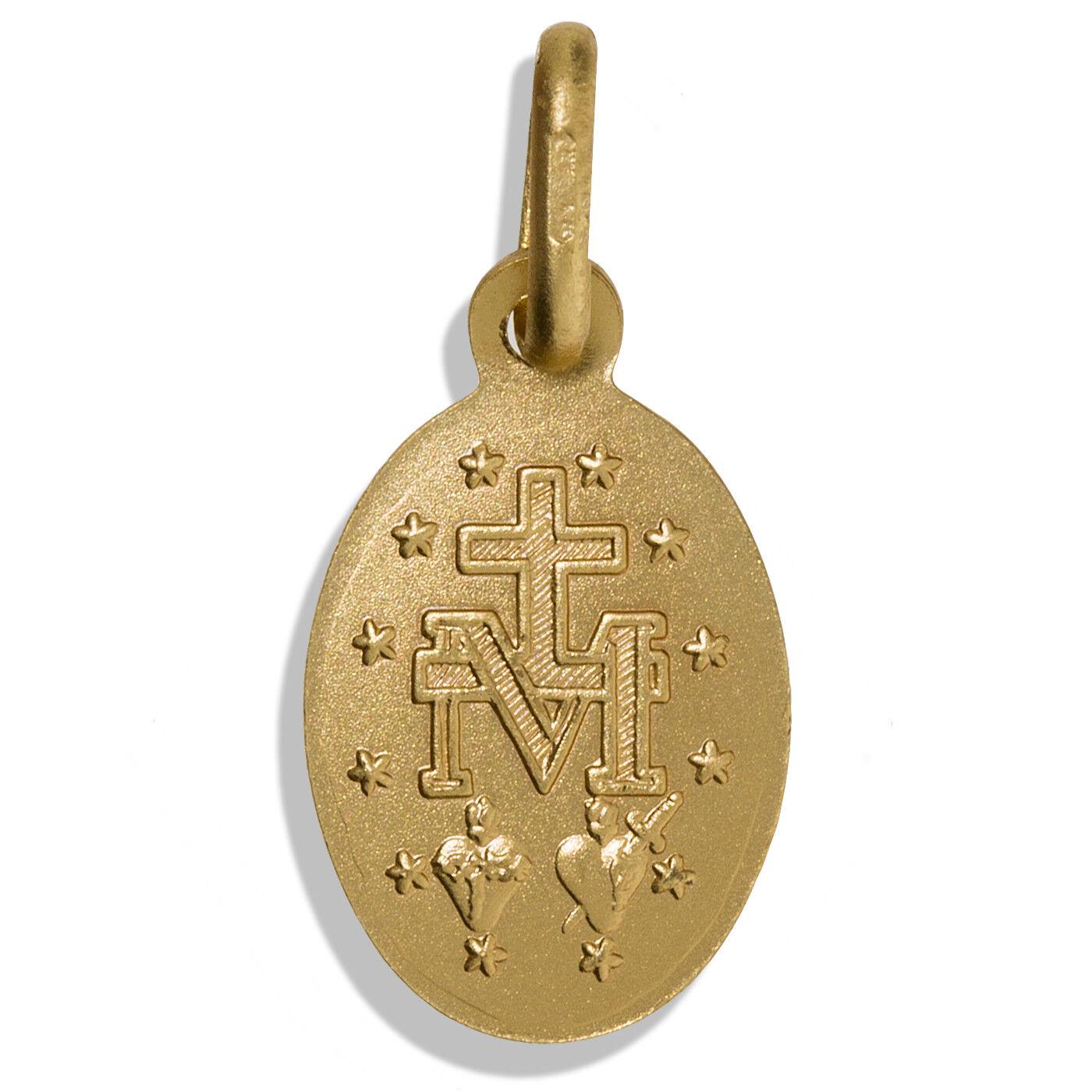 9CT MEDAGLIA D'oro D'oro D'oro miracoloso MARIA MADONNA IMMACOLATA CONCEZIONE Ciondolo Charm BOX 36d83c