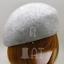 VINTAGE Wool Felt Women Pillbox Cadet Ladies Beret Cloche Hat57cmBlack Red