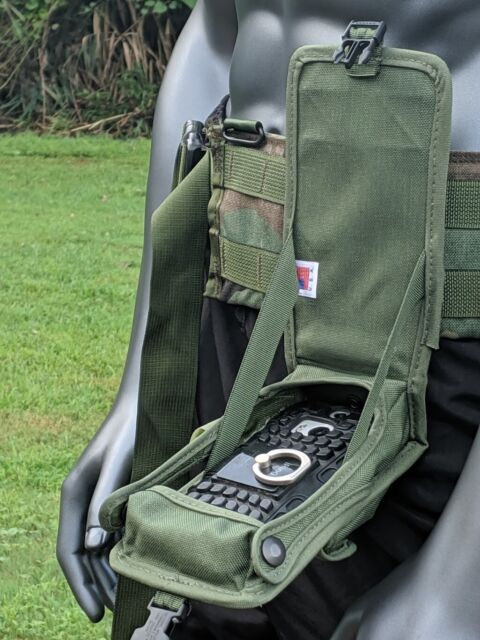 US Army Molle II OD Smart Moblie Cell Phone GPS Case Cover Radio Flip Down Pouch