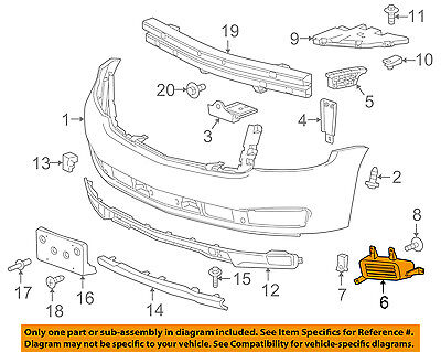 Bumper Filler For 2015 Chevrolet Tahoe Suburban Front Right Side