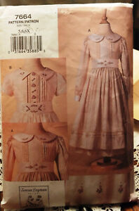 Vogue-Sewing-Pattern-7664-Girls-039-Smocked-Pinafore-Dress-Teresa-Layman-5-6-6X