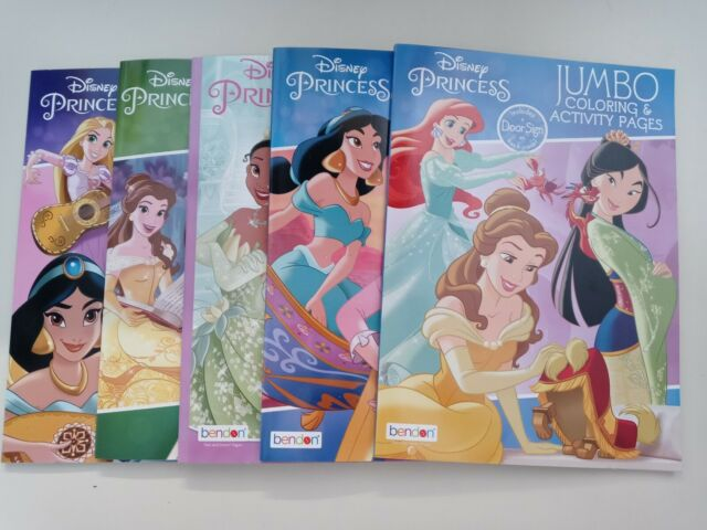 2pc Disney Princesses Coloring Book Jumbo Activity Pad Books Kids Children  Girls For Sale Online EBay
