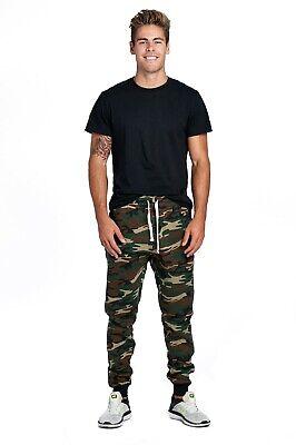 ProGo Men/'s Athletic Premium Workout Slim Fit Track Pants-Gym Jogger Sweatpants with Zipper Pockets WHITE BLACK STRIPE