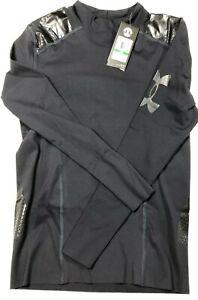 85-Under-Armour-Perpetual-Powerprint-Mock-Men-s-LARGE-L-S-Shirt-Black-1321006
