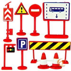 9pcs/set светофоры дорожный знак модель Kids Baby ролевая игра игрушки vyl