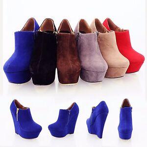 WOMENS-LADIES-GIRLS-HIGH-HEEL-PLATFORM-WEDGES-BLUE-BLACK-BROWN-GREY-SIZE-3-8