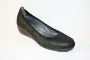 Cabello-Comfort-Brand-Black-Leather-Slip-On-Comfort-Shoes-Size-UK-7-AUS-9