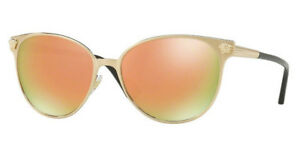 93371d40517a NWT VERSACE Sunglasses VE 2168 13394Z Brushed Pale Gold   Mirror ...