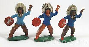 Konvolut-3-Figuren-Gummi-Indianer-DDR-Friedhold-Fischer