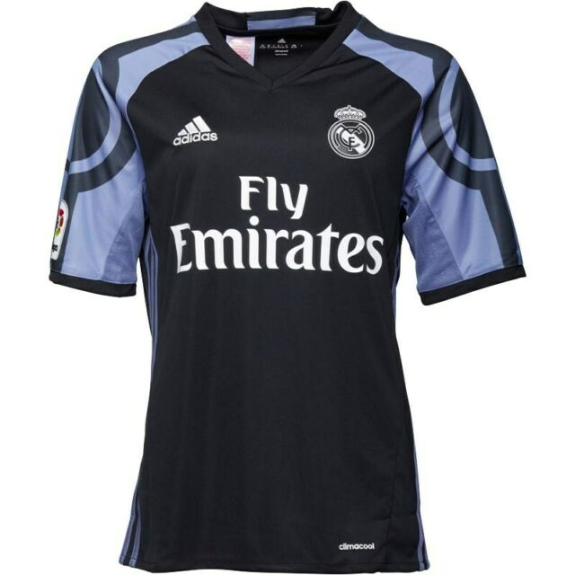 new arrival 91840 fb813 Official Adidas 2016/2017 Real Madrid Junior Boys 3rd Third Football Kit  Shirt